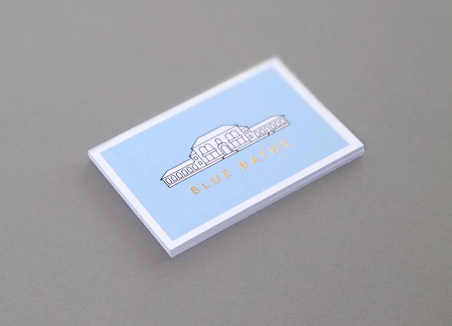 02-Blue-Baths-Gold-Foil-Business-Card-by-Ryan-Romanes-on-BPO1
